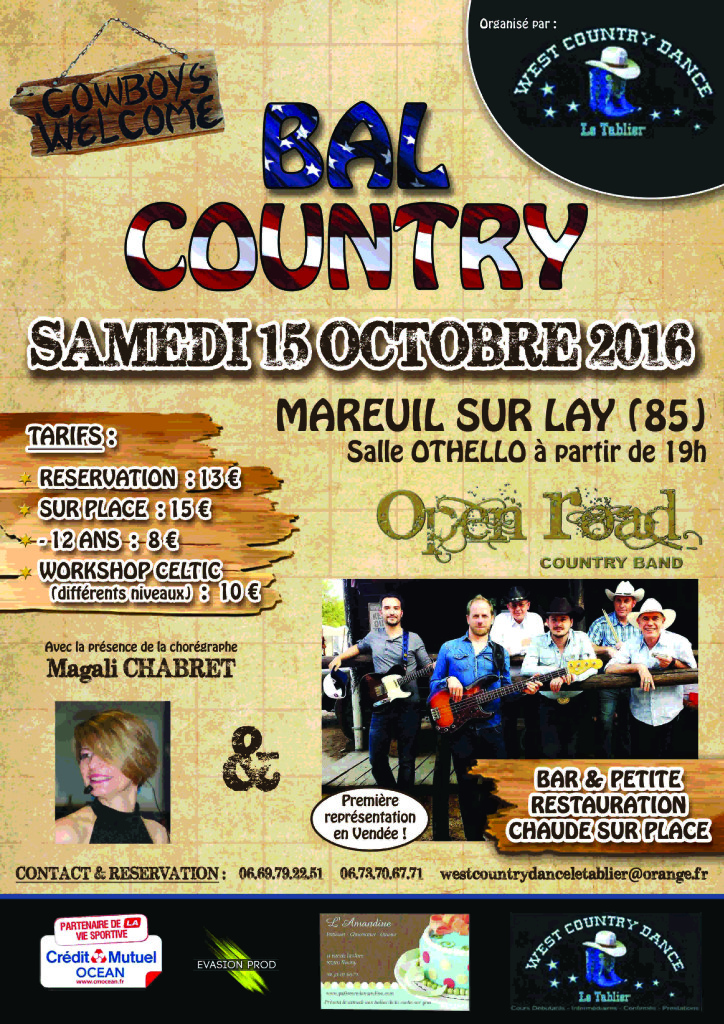 West Country Dance Le Tablier @ Mareuil sur Lay