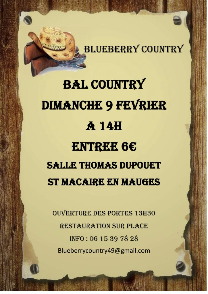 Blueberry Country @ St Macaire en Mauges